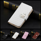 Luxury Leather Crystal Wallet Flip Stand Case Cover for Samsung Galaxy Note 2 3