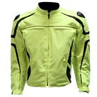 MENS MOTORCYCLE REFLECTIVE SPORTS NEON JACKET ZIP-OUT LINER - CLOSEOUT SALE DA25
