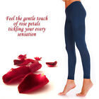 Womens Opaque Soft Microfibre FOOTLESS Tights 100 Denier Long Length Size S-XL