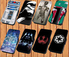 Star Wars For Faux Leather Flip iPhone And Samsung Galaxy Series Case Cover $18.28 CAD