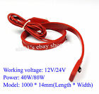 12V 24V 40W 80W Waterproof Silicone Rubber Flexible Heating Strip 1000*14MM
