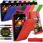 Microsoft Lumia 535 PU Leather Top Flip Phone Case Skin Cover Pen+Film+Pen