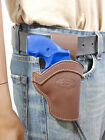 NEW Barsony Brown Leather Western Belt Loop Holster Charter Arms 22 38 357 Snub