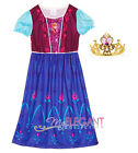 Disney Frozen Princesse Anna Enfant Filles Robe Jupe Costume Pyjama Dress 3-8ans