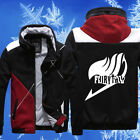 Anime Fairy Tail Guild Emblem Slim Fit Jacket Hooded Sweatshirt Hoodie