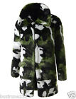 (CELC) TheLees Mens Casual Big Lapel Pattern Long Sleeve Stylish Faux Fur Coat