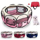 FABRIC PUPPY PLAY PEN ANIMAL CAGE PET DOG RABBIT PLAYPEN RUN FOLDING FENCE CRATE