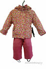 NEW GIRLS Sears SKI SUIT SNOWSUIT COAT JACKET TROUSERS AGES 2,3,4,5,6,7 PINK