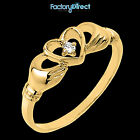 14k Gold Claddagh Ring with Diamond