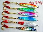 Qty 6 Vertical Knife Jigs 6oz /170g  Saltwater Fishing Lures Choose Colors
