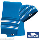 TRESPASS KIDS Fleece lined Hat & Scarf set Warm Blue Stripe Winter Gift