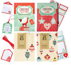 Christmas Tags & Ribbon/Labels-Decorate Xmas Cards & Gifts! Crafty Stickers