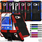 Samsung Galaxy Young 2 Anti Shock Proof Dual Layer Defender Stand Builder Case