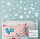 Snowflakes Vinyl Wall Decals Frozen Inspired Holiday Christmas Decor Set of 55