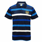 Manchester City FC Official Gift Mens Striped Polo Shirt (RRP £29.99!)