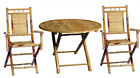 Bamboo 3 Piece Indoor/Outdoor Patio Dining Bistro Set- w/ Round or Square Table