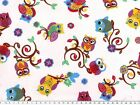 Cotton-Jersey, 4 colours, owls, app. 155cm wide