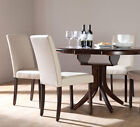 Dark Hudson & City Round Extending Dining Table and 4 6 Chairs Set (Ivory)