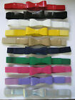 "#350- 1"" WIDE ELASTIC STRETCH & PATENT LEATHER BOW BELT FOR LADIES"