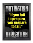 """Motivational 204 """"If You Fail To Prepare, You Prepare To Fail"""" Quote Poster"""
