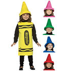 Licensed Cute Crayola Crayon Tunic & Hat Fancy Dress Costume For Boys & Girls
