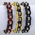 12MM NEW Multi-colors Mens Chain Biker Motorcycle 316L Stainless Steel Bracelet