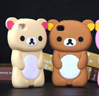 "3D Cute Lovely Cartoon Animal Bear Soft Skin For Iphone 6 4.7"" Rubber Case Cover"