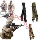 3 Point Rifle Sling Adjustable Bungee Tactical Airsoft Gun Strap System Hunting