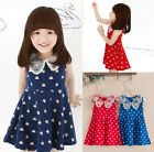 Baby Kids Girls Toddler Swan Spotted Dress Braces Skirt Summer Skirt Clothing