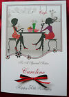 Personalised Handmade A5 Birthday Card -  Cafe Coffee 21st 30th 40th 50th 1570