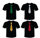 Neck Tie Funny T-Shirt with Color Choice - Black 100% Cotton Gildan, Top Quality image