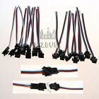 1~20Pairs 3PIN JST Female to Male Connector Cable Wire For RGB LED Pixel Strip