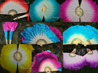 Various patterns, 1pair=2pcs handmade Chinese dance silk flutter fan+carry bag
