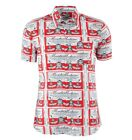 MOSCHINO Hemd Weiß Rot Shirt White Red Chemise Blanc Rouge 03067