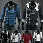 Hot Fashion Mens Casual Designed Fit Slim Hooded Cardigan Coat Jacket Hoodies