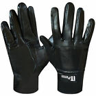 Leather Riding Gloves Soft  Gloves Black Children & Ladies