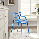 Entangled Dining Room Side Chair Contemporary Furniture White, Blue, Red, Green