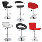 FAUX LEATHER KITCHEN BREAKFAST BAR STOOL BARSTOOLS BLACK PU SWIVEL NEW STOOLS