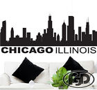 Removable Wall Decal Sticker Chicago Skyline 22