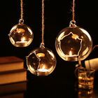 Hanging/Table Glass Ball Candle Holder Hanging Bauble Vase Lace Oepning wedding