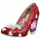 Irregular Choice Women's Hearts On The Line Red Court Shoe