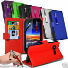 Vodafone Smart 4 Mini Phone Leather Book Flip Wallet Skin Case Cover+Film+Pen