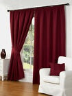 Waffle Effect Lined Pencil Pleat/Tape Readymade Curtains - TO CLEAR
