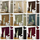 Waffle Effect Lined Pencil Pleat/tape Top Readymade Curtains By Hamilton Mcbride