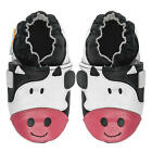 Momo Baby Girls Soft Sole Leather Shoes - Cow