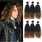 "CURLY 100% BRAZILIAN VIRGIN UNPROCESSED HUMAN HAIR 10""-30"" WIGISS 50g 1B/30#"