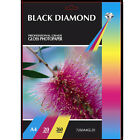 BLACK DIAMOND HEAVY WEIGHT PREMIUM A4 GLOSS COATED PHOTO PAPER 20 SHEETS 260GSM