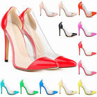 sto Women Lady Clear Perspective Office Club Sexy Shoes Thin High Heel 12 Colors