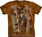The Guardian Wolf Unisex Adults Style Tie Dye T-Shirt by The Mountain - NEW!