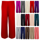 Ladies Palazzo Wide Flare Trousers Womens Pants  smallmedium and plus sizes 8-26